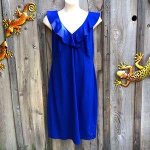 Love Squared Blue Ruffled Sleeveless Dress Size 3X